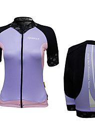 SPAKCT Cycling Clothing Sets/Suits / Arm Warmers Women'sBreathable / Quick Dry / Front Zipper / Wearable / 3D Pad / Reflective