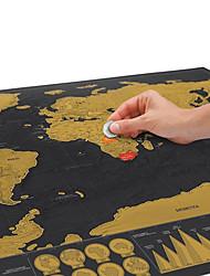 explorar o mapa versão zero mundo mapa bilhete de raspadinha preto