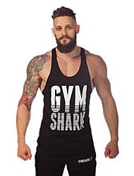 Heren Singlet Sport wicking Geel / Wit / Rood / Grijs / Hemelsblauw M / L / Xl / Xxl Fitness - Overige
