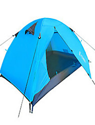 LANGYA Waterproof / Windproof Oxford / Polyester One Room Tent Blue / Orange