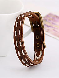 Vintage / Party / Work / Casual Leather Leather Bracelet