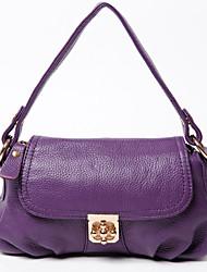 Sac à Bandoulière / Cabas / Sac de Voyage / Mobile Bag Phone-Violet / Marron / Noir-Coquillage-Cuir de Vache-Femme