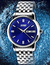SKMEI® Men's Japan PC Stainless Steel  Band Quartz Analog Calendar 30M Water Resistant Dress Watch Cool Watch Unique Watch Fashion Watch