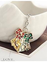 Harry Potter Hogwarts Gryffindor Hufflepuff Ravenclaw Slytherin Logo Metal Keychains Pendant Key Chain Key Ring