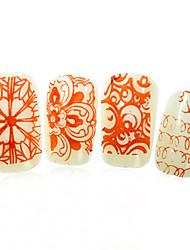 1pcs nieuwe 12x6cm image diy stamping platen nail art templates stencils voor polish xy-L19