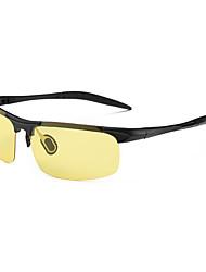 Gafas de Sol hombres's Deportes / Modern / Moda / Polarizada Aviador Plata Gafas de Sol / Deportes / Gafas de visión nocturna Con Clip