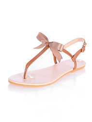 Women's Shoes  Flat Heel Slingback / T-Strap Sandals Outdoor / Office & Career / Dress Brown / Pink / Gold