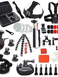 Gopro Accessories 39 in 1 Set Chest Belt Mount Strap Monopod For Gopro Action Camera hero 4 3+ xiaomi yi sjcam