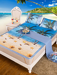 Yuxin®Reactive Printing Ice Silk Three-Piece Summer Seats Linen Seats Air-Conditioned Seats  Bedding Set