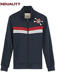 Trenduality® Hombre Escote Chino Manga Larga Sudadera con capucha y de la camiseta Azul marino - 40027