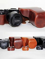 dengpin pu lederen cameratas tas te dekken met schouderband voor Panasonic DMC-GX8 met 14-140 (verschillende kleuren)