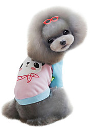 Hunde Pullover Rot Gelb Blau Rosa Hundekleidung Winter Frühling/Herbst Karton Niedlich Lässig/Alltäglich