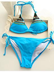 Women's Sexy Beadwork Halter-tops  Push Up Bikini