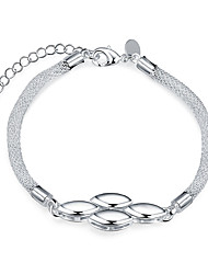Femme Chaînes & Bracelets Cuivre Plaqué argent Simple Style Argent Bijoux 1pc