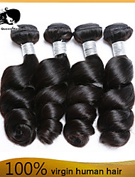 cabelo virgem peruano 4pcs cabelo humano onda solta tece cabelo 8-26 polegadas Venda preto quente natural.