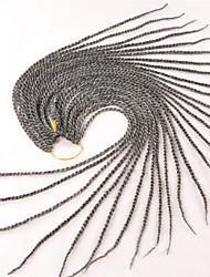 grey Box Braids Twist Braids Hair Extensions 22inc Kanekalon 12/1 Strand 80g gram Hair Braids