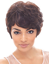 Europe And America Short Brown Women's Wig Curly African American Women Wigs