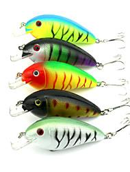 "10 pcs Cebos Manivela Colores Aleatorios g/Onza,85 mm/3-5/16"" pulgada,Plástico duroPesca de Mar Pesca de agua dulce Pesca de Perca Pesca"