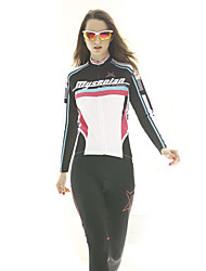 MYSENLAN Cycling Tops / Jerseys Women's Bike Breathable / Lightweight Materials Long Sleeve Inelastic Polyester / TeryleneClassic /