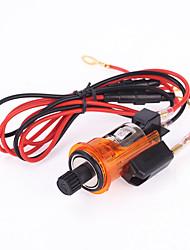 освещенная авто 12v автомобиля оранжевый сигареты розетка зажигалка адаптер питания розетка вилка может курить для Peugeot 405 505