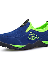 Boys' Shoes Outdoor / Casual Leather Fashion Sneakers Blue