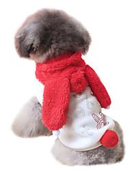 Cães Fantasias / Camisola com Capuz / Roupa Vermelho Roupas para Cães Primavera/Outono Animal / Carta e NúmeroDa Moda / Fantasias / Dia