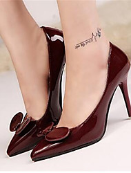 Women's Shoes Stiletto Heel Pointed Toe Heels Dress Black / Blue / Purple / Red / White / Dark Green / Burgundy