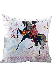 3D Design Print  Riding a horse Decorative Throw Pillow Case Cushion Cover for Sofa Home Decor Polyester Soft Material