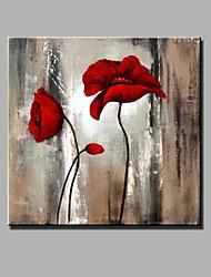 Peint à la main A fleurs/BotaniqueModern Un Panneau Toile Peinture à l'huile Hang-peint For Décoration d'intérieur