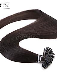 """neitsi 20 """"1g / с 50g кератина слияние у ногтей наконечник прямые Ombre человеческих волос 1b #"""