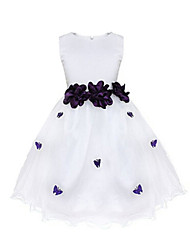 Girl's Multi-color / Pink / Purple / Red Dress , Bow Polyester Summer / Spring / Fall