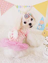 Dog Dress Yellow / Blue / Pink Dog Clothes Spring/Fall Fashion