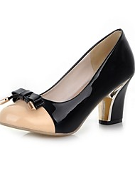 Women's Shoes Leatherette Chunky Heel Heels Heels Wedding / Office & Career / Party & Evening Black / Blue / Pink