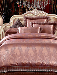 Surprise Price Bedding Set Coffee Gold Bed Linen Classical Sheets Silk Fabric Bedclothes for Bedroom 4Pcs Queen King