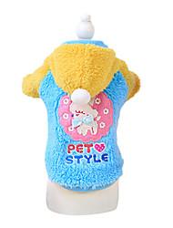 Dog Coat Blue / Pink Dog Clothes Winter Fashion