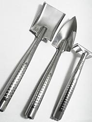 садоводство три части инструмента мотыга лопата грабли для выращивания цветов и овощей из нержавеющей стали