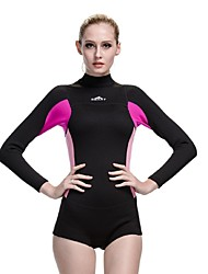 Women Neoprene Rubber Diving Suit UV Swimsuit Winter Warm Wet Suits Sun-protective Clothing One-Piece Swimming Suits