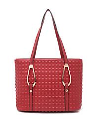 Women PU Baguette Shoulder Bag / Tote - Red