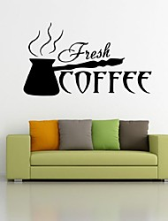 Coffee Cup Removable Vinyl Wall 3D Stickers Home Decor Diy Coffee Shop Bakery Kitchen Wall Art Mural