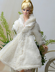 Wit - Feestje & Avond - Barbie Doll - van Fleece - Jurken - met Topjes