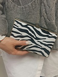 2016 Women Zebra Metal Box Clutch Bags Evening Purse
