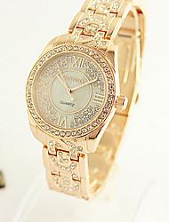 Женские Модные часы Кварцевый сплав Группа Серебристый металл Золотистый марка
