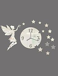 Modern 3D DIY Wall Stickers Home Decor Frameless Fairy Stars Wall Sticker Clock Home Room Decor pegatinas de pared