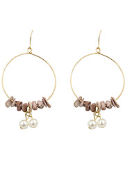Earring Drop Earrings Jewelry Women Wedding / Party / Daily / Casual / Sports Pearl / Alloy / Agate 2pcs Gold