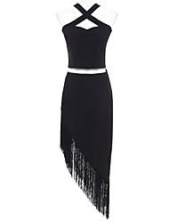 Women's Patchwork White / Black Set , Halter Sleeveless