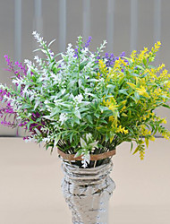 flores artificiais de alta qualidade flores de lavanda flores de seda flores de seda para decoração de casa flor kit 1pc / set