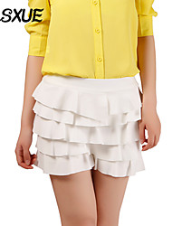 DLSXUE Women's Solid Blue / Pink / White / Black / Green Skirts , Casual / Day / Cute Above Knee
