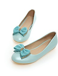 Women's Shoes Leatherette Flat Heel Round Toe Flats Casual Blue / Pink / White