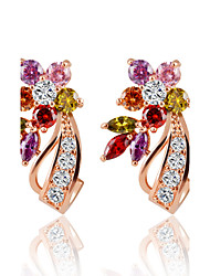 Earring Flower Stud Earrings / Hoop Earrings Jewelry Wedding / Party / Daily / Casual / Sports Alloy / Zircon 1set Assorted Color