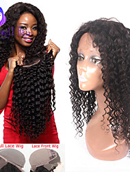 """8""""-24""""Brazilian Virgin Hair Curly Lace Front Wig For Black Women Gueless Lace Front Human Hair Wigs"""